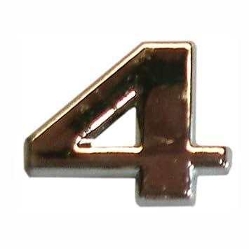 3D chiffre en relief chrome 4 , - fr-shop 035e4db4568a