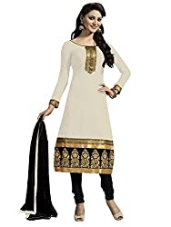 Manvaa Womens Cotton Salwar Unstitched Dress Material (KFM106_Cream)