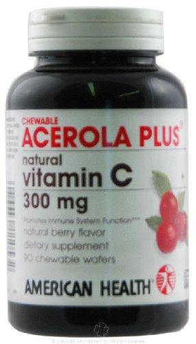 Chewable Vitamin C Acerola Plus - 300 mg 90 tab ( Multi-Pack) freeda kosher vitamin c 250 mg 100 tab page 2