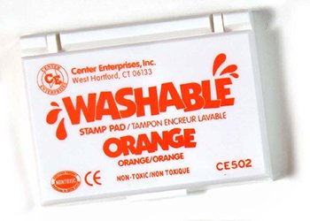 Stamp Pad Washable Orange -- Case of 7