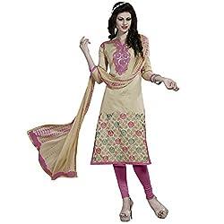 Price Bet Gold Chanderi Straight Fit Salwar Suit