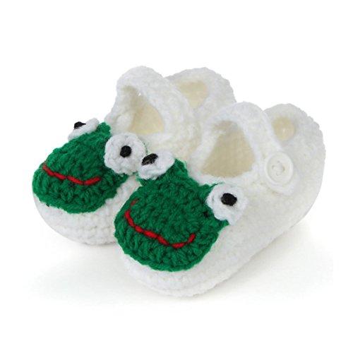 FuzzyGreen White Cute Fog Unisex Baby Newborn Infant Knitting Shower Crochet Prewalker Toddler Shoes Floor Socks Sandals