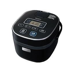 SHARP 電子ジャー炊飯器0.54Lタイプ ブラック系 KS-C5F-B