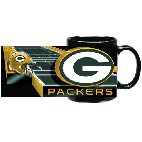 Green Bay Packers 11 Ounce Sublimated Coffee Mug (Black)
