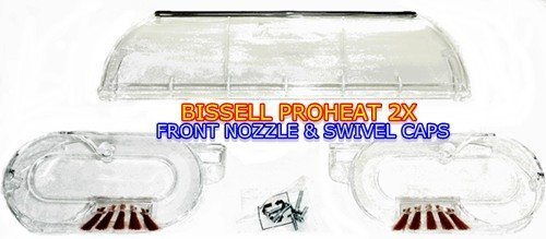 Bissell ProHeat 2X Front Nozzle and Swivel Caps (Right & Left) Kit For Models 8920, 8930, 8960, 9200, 9300, 9400, 9500 (Bissell 8920 Floor Nozzle compare prices)