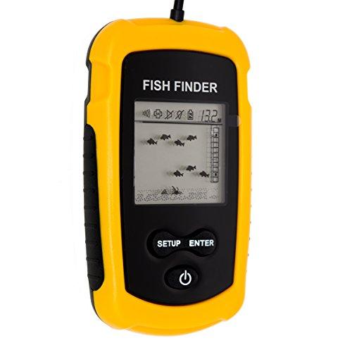 Venterior Portable Wired Fish Finder LCD Display Sonar Sensor Fishfinder Alarm Transducer Fishfinder primary