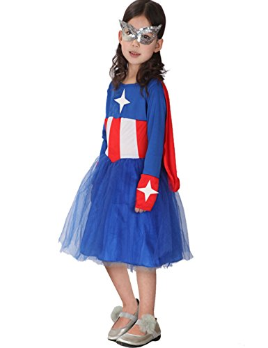 Chuangmei Children's Halloween Performances Avengers American Hero Woman Clothes