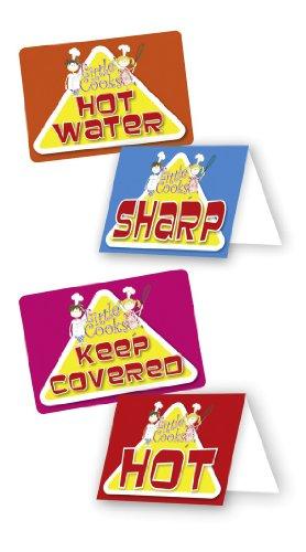 Little Cooks / Kleine Köche warnende Sticker Aufkleber für die Küche (Englisch) Kindergeburtstag