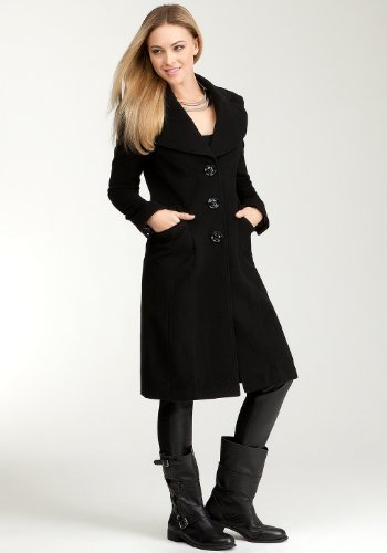 SIZE MEDIUM - Bebe Luxurious CASHMERE Wool Coat