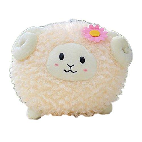 Lovely Circular Plush Toy Soft Stuffed Animal, Light Yellow Sheep