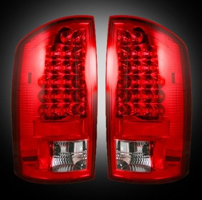 Recon 264179Rd Led Tail Lights Dodge Ram 2007-2009