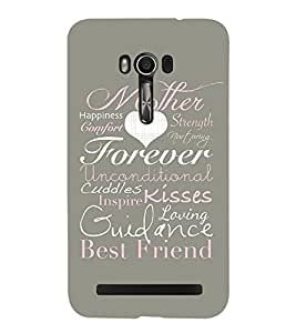 Mother Strength Comfort Kisses Cute Fashion 3D Hard Polycarbonate Designer Back Case Cover for Asus Zenfone Go ZC500TG (5 Inches)