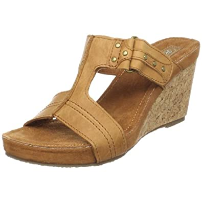 "Women's Skechers Wedge Sandals ""Modiste-Style File"" - Tan (10, Tan)"