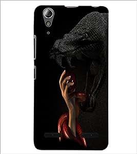 PrintDhaba Snakes D-3483 Back Case Cover for LENOVO A6000 (Multi-Coloured)