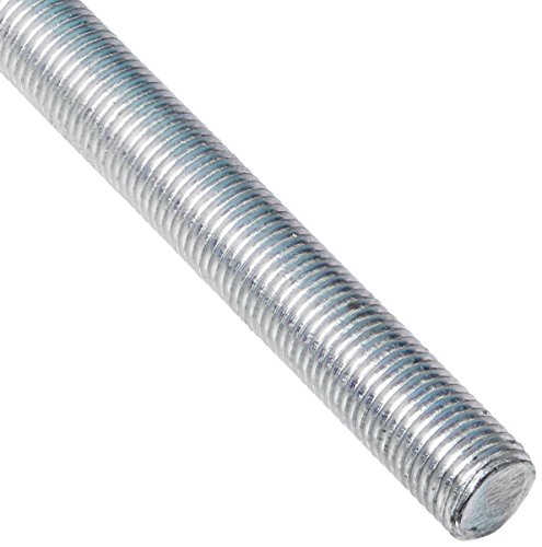 Steel Fully Threaded Rod, Zinc Plated, 3/8″-24 Thread Size, 24″ Length, Right Hand Threads