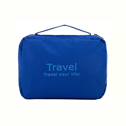 EvanaTM Toiletry Kit/folding Toiletry Kit Travel Bag-three Layer Cosmetic Organizer Unisex Toiletry Kit (Blue)