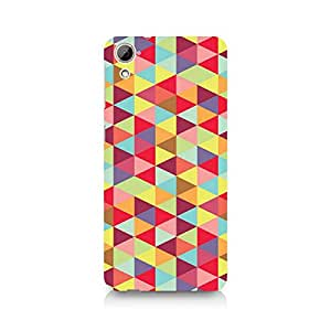 Ebby Colorful Hex Premium Printed Case For HTC Desire 820