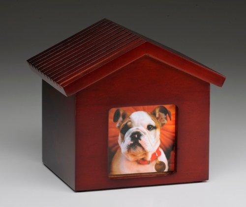 Dog House Pet Urn Dog Urn Cherry Photo Frame Urn with Glass Frame