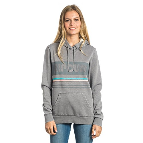 Rip Curl Active Stripe Fleece Felpa, Frost Grey, S
