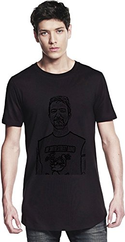 Frank Turner Illustration Lungo T-shirt Men Long T-Shirt Stylish Fashion Fit Apparel Clothes By Genuine Fan Merchandise Medium