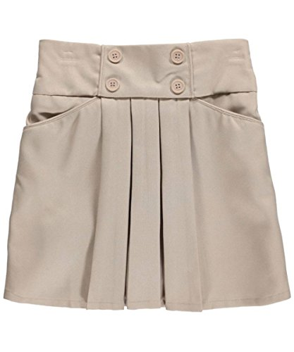 "Nautica Big Girls' ""4-Button Pleated"" Scooter Skirt - khaki, 10"