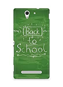 Amez designer printed 3d premium high quality back case cover for Sony Xperia C3 D2502 (Back To School Handwriting)