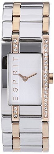 Esprit Damen-Armbanduhr Two tone Houston Analog Quarz Edelstahl ES000M02123