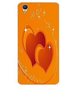 ColourCraft Loving Hearts Design Back Case Cover for OPPO F1 PLUS