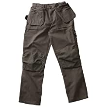Blaklader Workwear Brawny Pant with Utility Pockets, 30-Inch Waist, 28-Inch Length, 12-Ounce Cotton - Moss