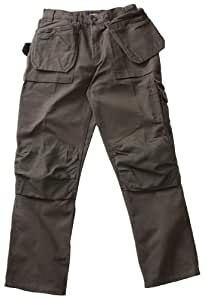 Blaklader Workwear Brawny Pant with Utility Pockets, 42-Inch Waist, 30-Inch Length, 12-Ounce Cotton - Moss