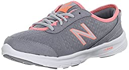 New Balance Women\'s WW511BB1 Walking Shoe, Grey/Pink, 12 B US