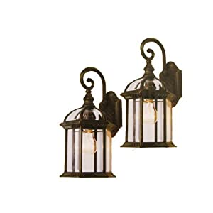 Click to buy Portfolio Outdoor Two-Pack Wall Lanterns from Amazon!