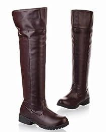 なりきり隊 進撃の巨人 コスプレ ロング ブーツ エレン ミカサ リヴァイ ブラウン 男女兼用 24.5cm