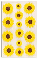 Martha Stewart Crafts Stickers Sunflower Glossary Yellow By The Package