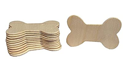 Creative Hobbies® Unfinished Wood Dog Bone Cutouts, Ready to Paint or Decorate - 3.5