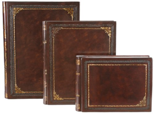 Italian Leather Photo Album,  Gold Corners, Wedding