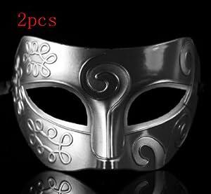 Silver Retro Gladiator Halloween Party Masks Man Woman Children Masquerade Mask (2pcs retro mask $8.95)