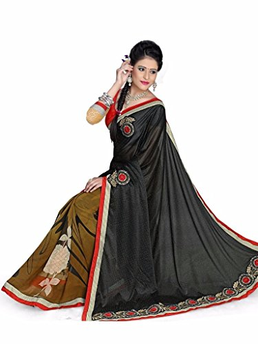 Yashoda Textile Multi Color Georgette Printed And Border Work Sarees With Un-Stitched Blouse Piece (Y.S_683_Multi)