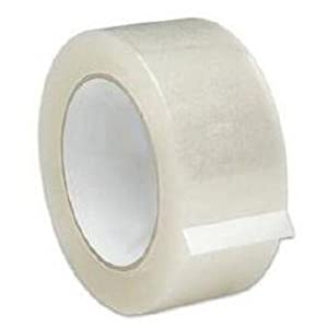"3"" x 110 yds. 1.88 Mil Clear Primetac 405 Acrylic Packaging Packing Box Carton Sealing Tape 24 Rolls"
