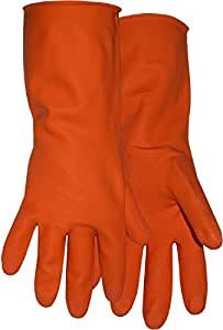 Boss Gloves 4708M Medium 12-Inch Orange Latex Lined Gloves