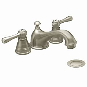 Moen T6103bn Kingsley Two Handle Low Arc Bathroom Faucet Brushed Nickel Not Ca Vt Compliant