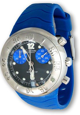 Women's exploration lds chrono blue rubber strap Stainless Steel