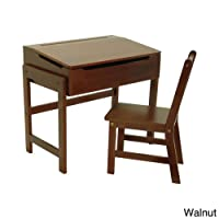 Child's Slanted Top Desk and Chair