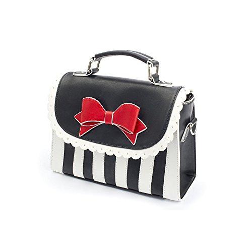 Lola Ramona Girly strisce 391001-2bag Nero Bianco Borsa Bag