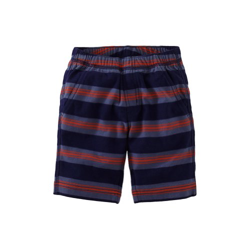 Tea Collection Baby-Boys Seaport Stripe Beach Shorts, Nightfall (12-18 Months)