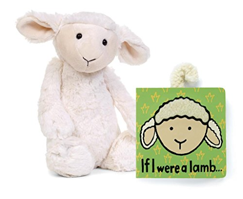 Jellycat® Bundle, If I Were A Lamb Baby Touch And Feel Book And Bashful Lamb Stuffed Animal front-1056513