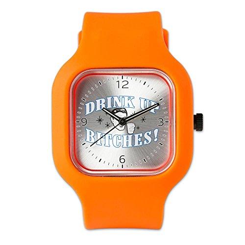 orange-fashion-sport-watch-beer-drink-up-bitches