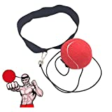 Ueasy Fight Ball Reflex Speed Training Boxing Punch Fight Jab Ball Headband Punch Exercise for Boxing, MMA and Other Combat Sports (Red)
