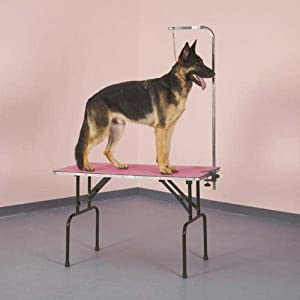 Top Performance Foam and PVC Pet Grooming Table Top Mat, Small, Black