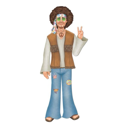 Jointed Male Hippie Party Accessory (1 count) (1/Pkg) - 1